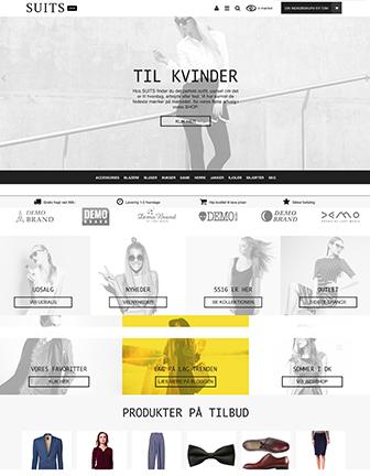 Suits - Scannet webshop designskabelon